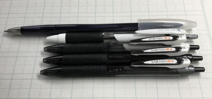 ペン字講座で使っているボールペン